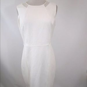 T-Tahari Manning Sheath Dress 10 Off White